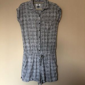 Old Navy Romper Patterned